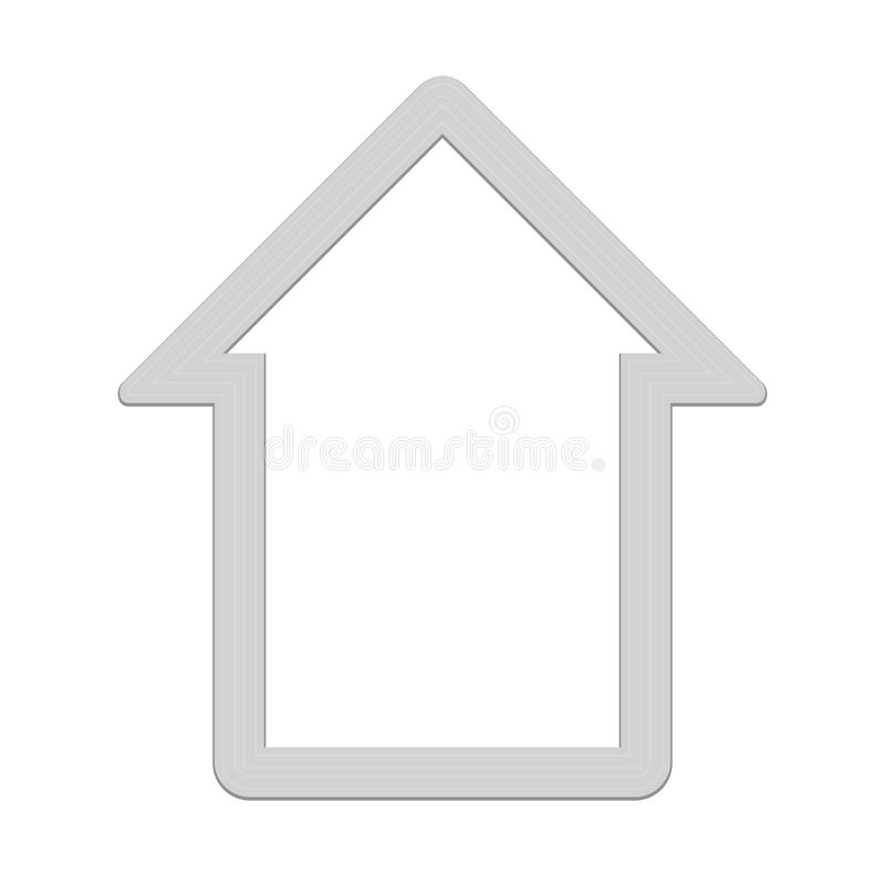 Серебряный значок маяка иллюстрация вектора