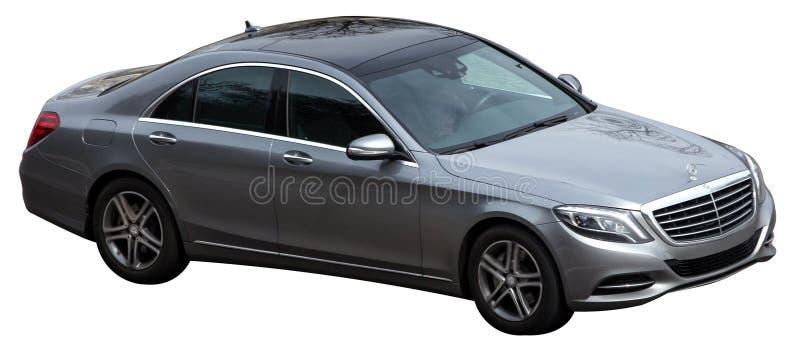 Серебряный класс Benz s Мерседес на прозрачной предпосылке стоковые фото
