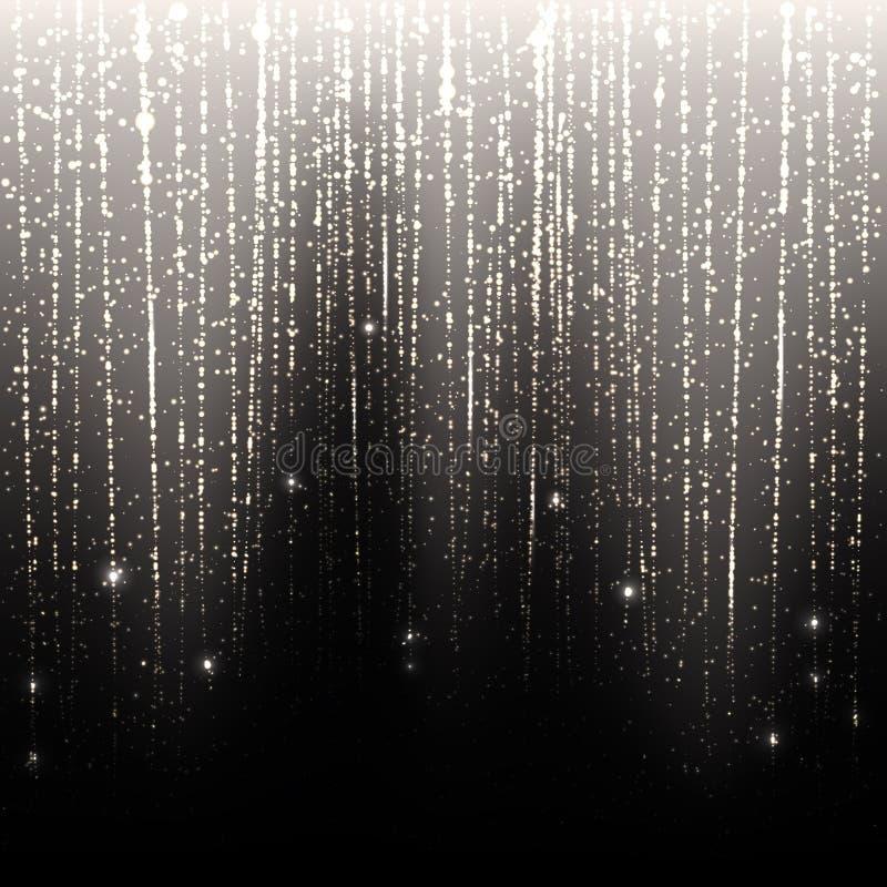 Серебряный дождь иллюстрация вектора