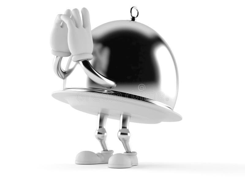 Серебряный поставляя еду кричать характера купола бесплатная иллюстрация
