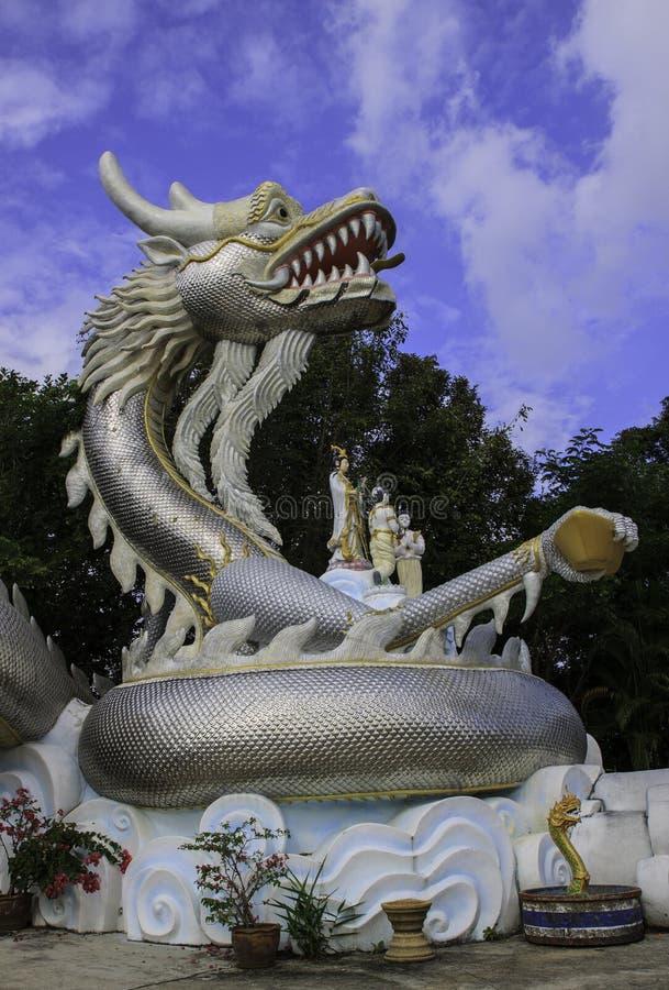 Серебряный дракон стоковые изображения