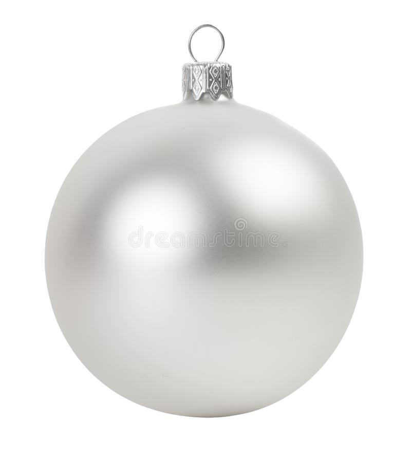 Серебряный шарик рождества стоковая фотография