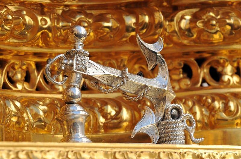 Серебряный knocker, святая неделя в Triana, Севилья, Испания стоковые фото