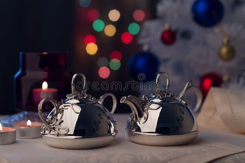 Серебряный Tableware стоковое фото rf