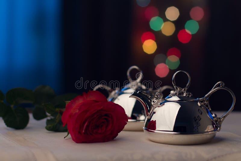 Серебряный Tableware стоковые изображения rf