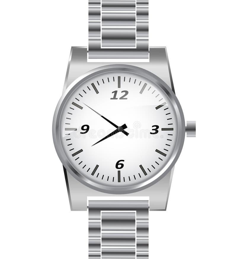 Серебряный wristwatch бесплатная иллюстрация