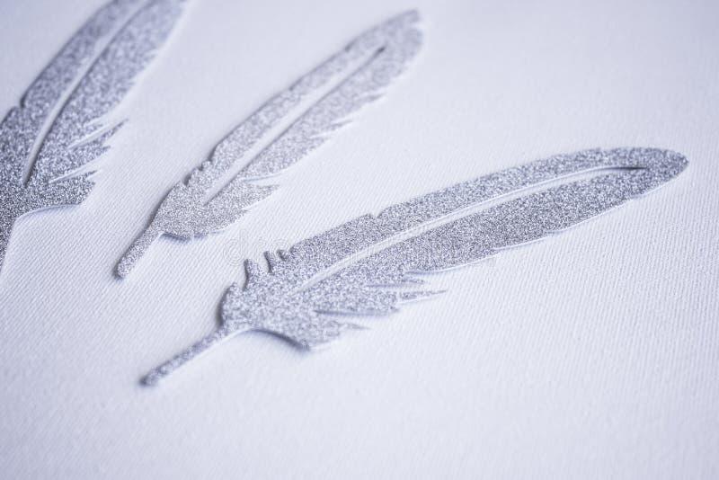 3 серебряных quills стоковое изображение rf