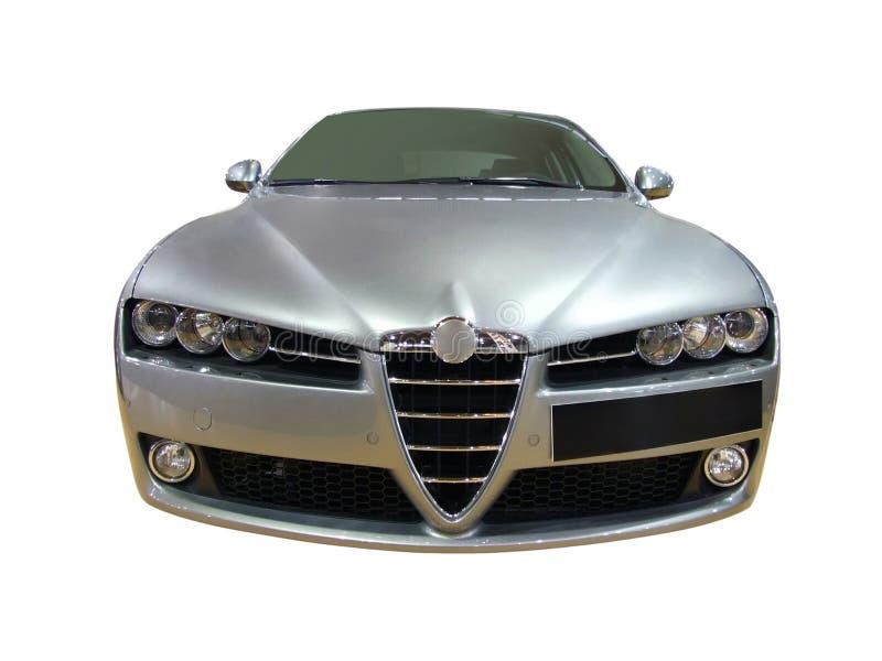 серебр автомобиля передний стоковое фото rf