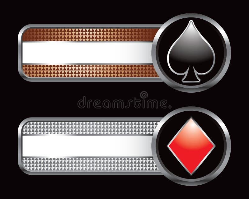 серебр бронзовой карточки checkered одевает платы бесплатная иллюстрация
