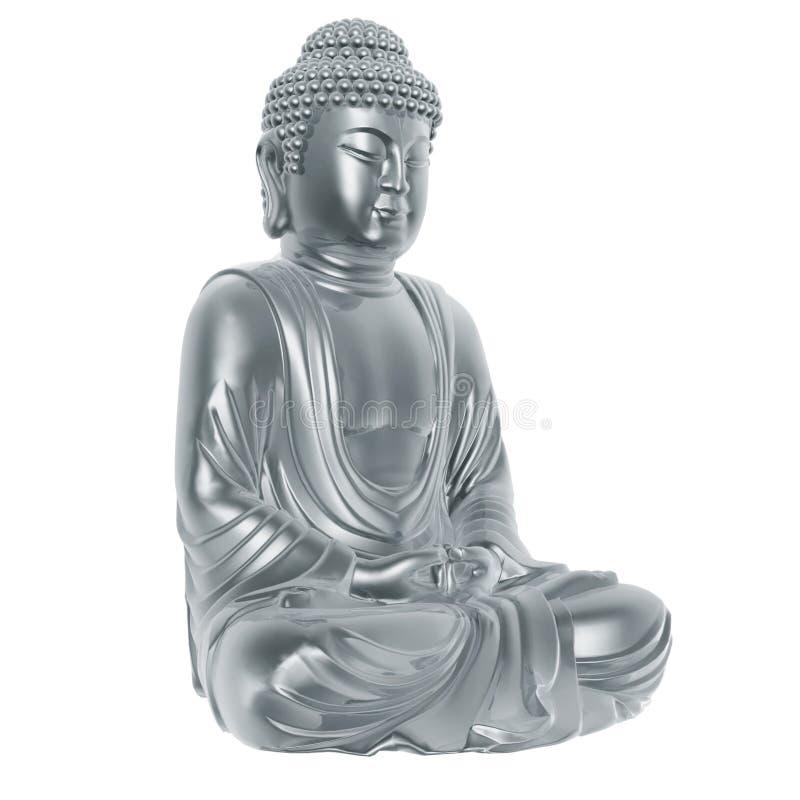серебр Будды иллюстрация штока