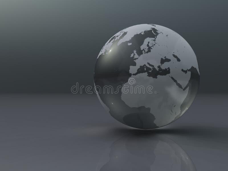 серебр глобуса иллюстрация штока