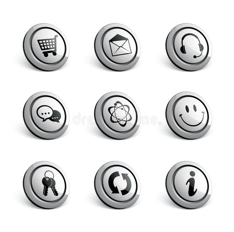 серебр иконы установленный бесплатная иллюстрация