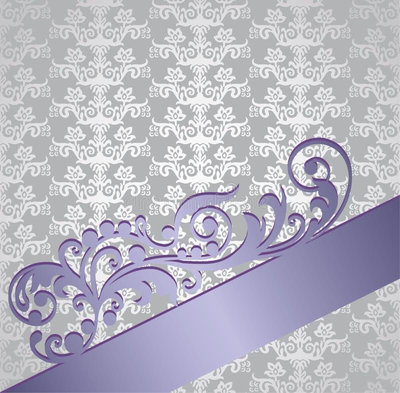 Серебр и обложка книги фиолетового викторианского стиля флористическая иллюстрация штока
