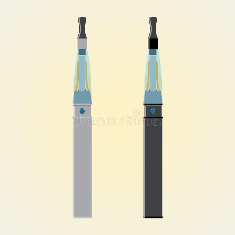 Серебр и сигарета черноты электронная стоковая фотография rf