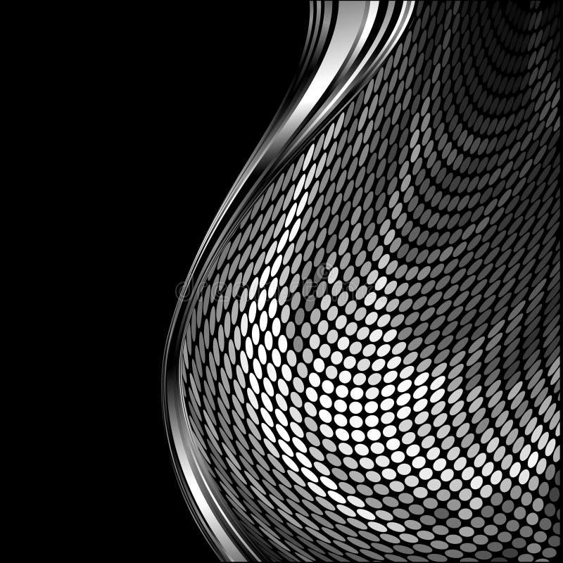 серебр картины крома волнистый иллюстрация вектора
