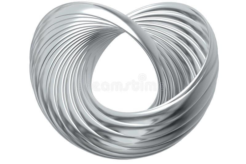 серебр кольца сердца иллюстрация вектора