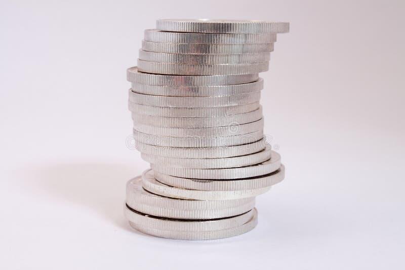 серебр кучи монеток стоковая фотография