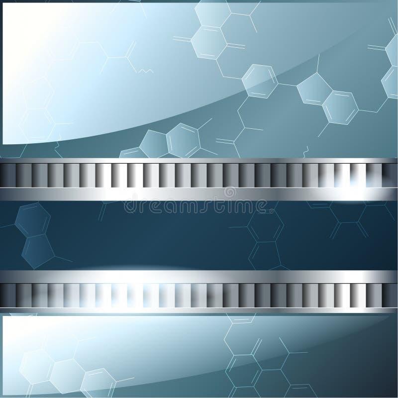 серебр науки знамени предпосылки голубой бесплатная иллюстрация