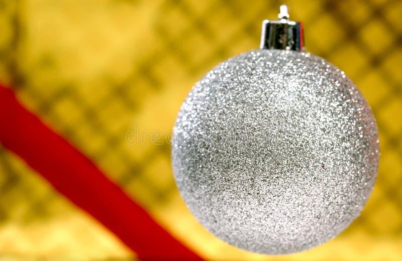 серебр орнамента рождества стоковое фото rf