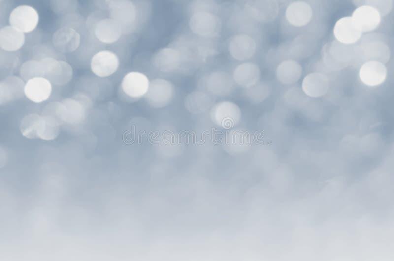 серебр освещает defocused конспект bokeh для рождества бесплатная иллюстрация