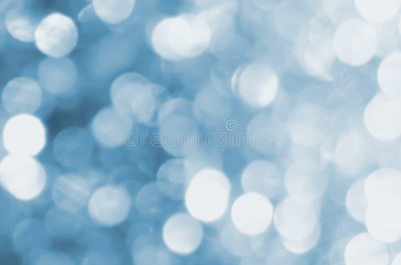 серебр освещает defocused конспект bokeh для рождества иллюстрация штока