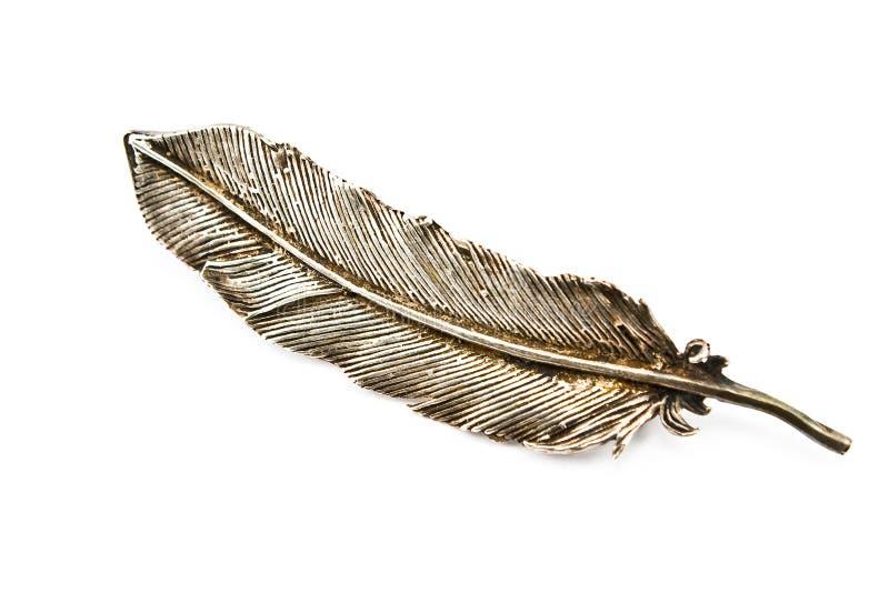 серебр пера brooch старый стоковые изображения rf