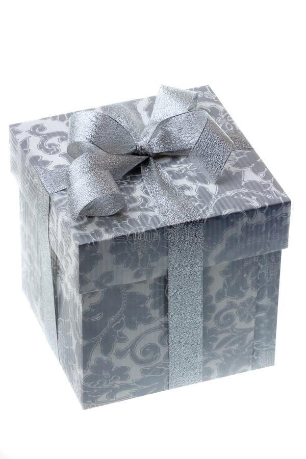серебр подарка коробки стоковая фотография rf