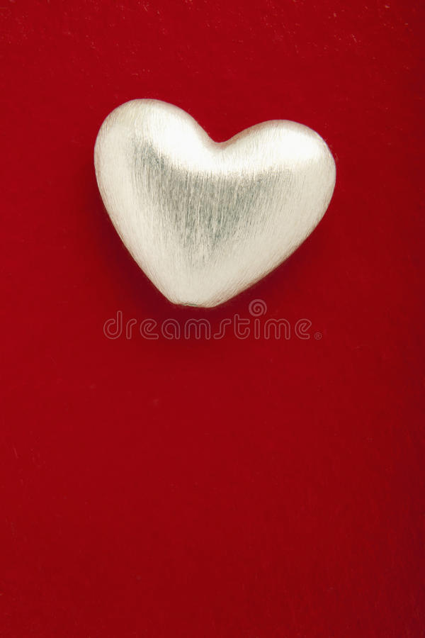 серебр сердца стоковое изображение
