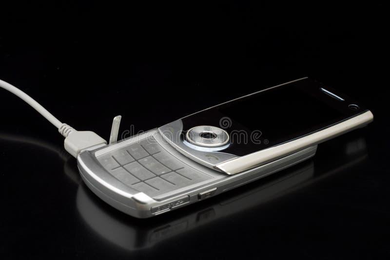 серебр сотового телефона стоковые изображения