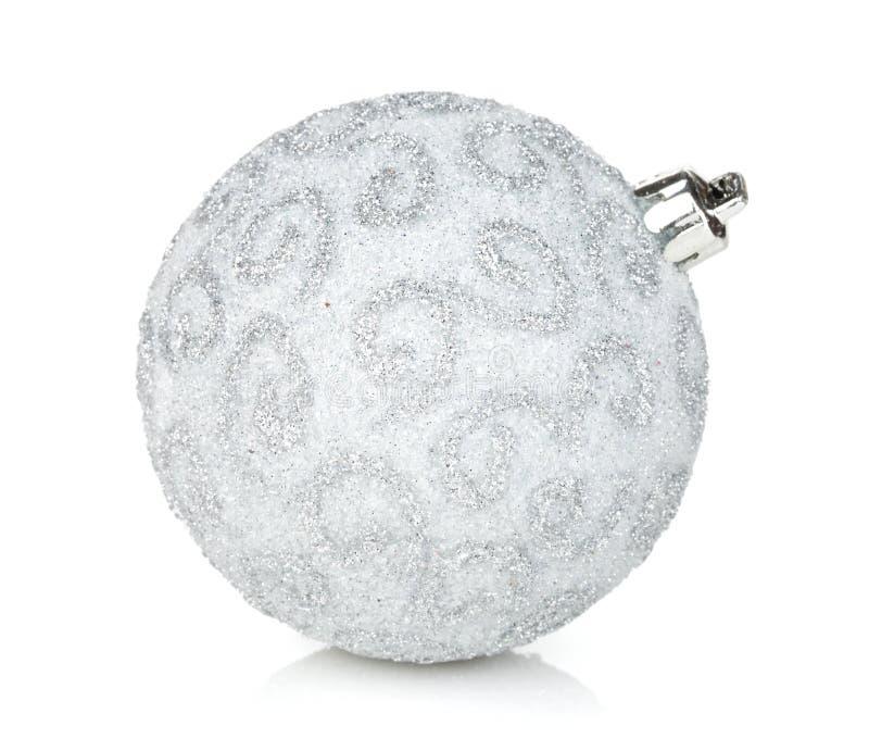 серебр съемки макроса рождества bauble стоковое фото rf