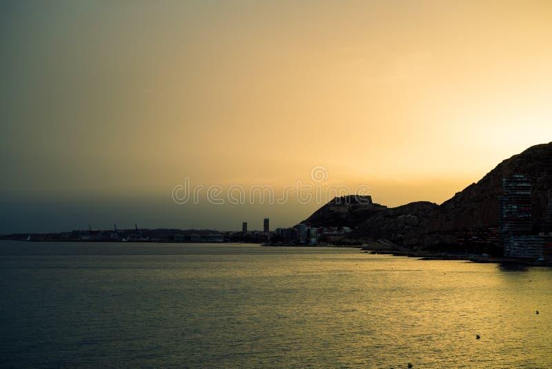Серебр форта Аликанте стоковая фотография