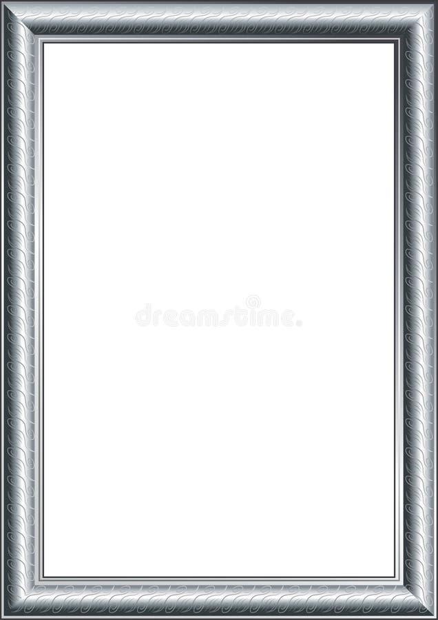 серебр фото рамки иллюстрация штока