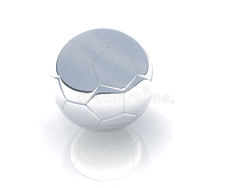 серебр шарика стоковое фото