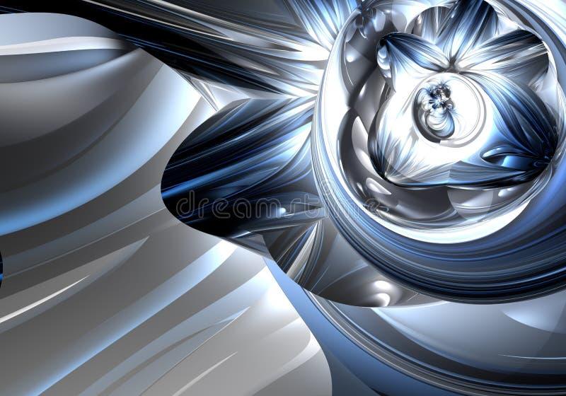 серебр metall 03 син иллюстрация штока