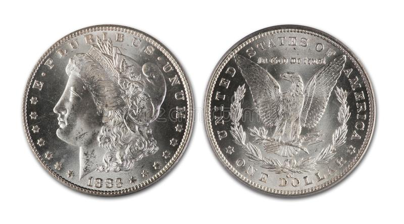 серебр morgan доллара стоковое изображение rf