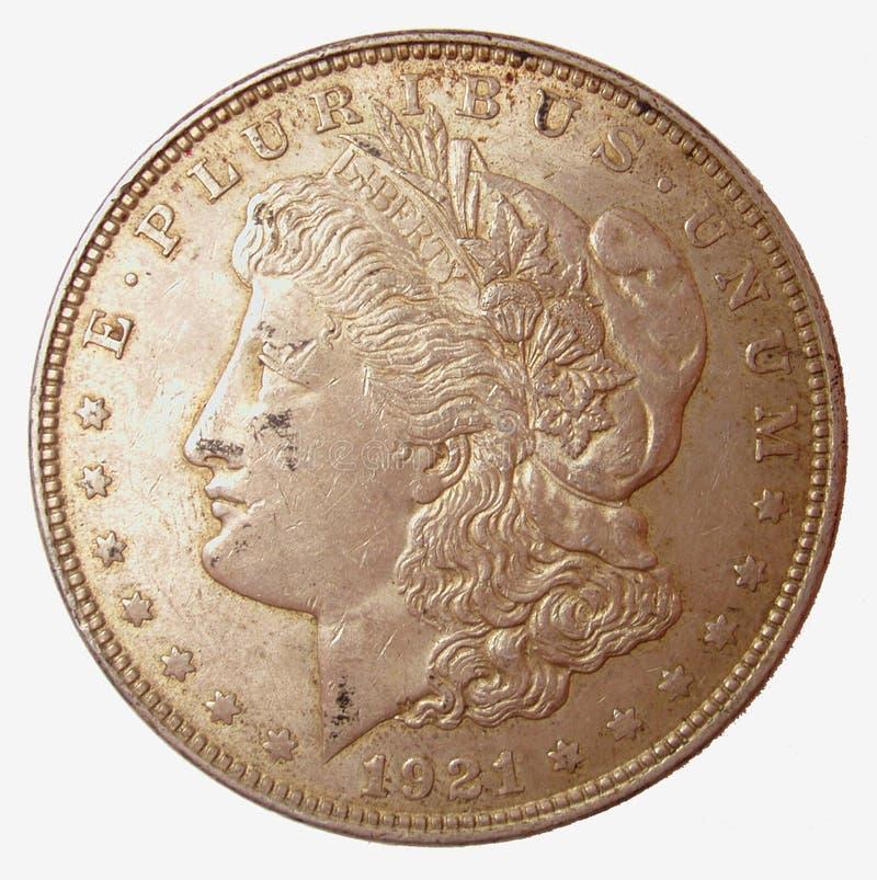 серебр morgan доллара стоковые фото