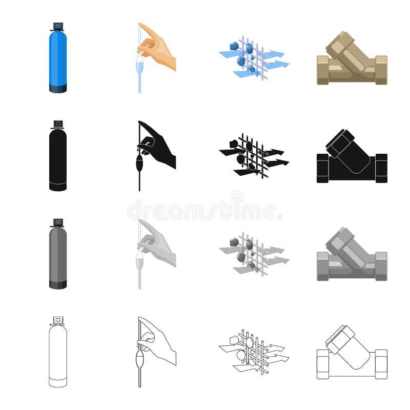 Середины, заполнитель, система и другой значок сети в стиле шаржа Оборудование, инструменты, значки машинного оборудования в собр иллюстрация вектора