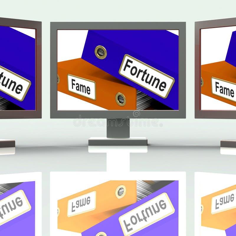 Середина экрана папок славы удачи богатая или известная бесплатная иллюстрация