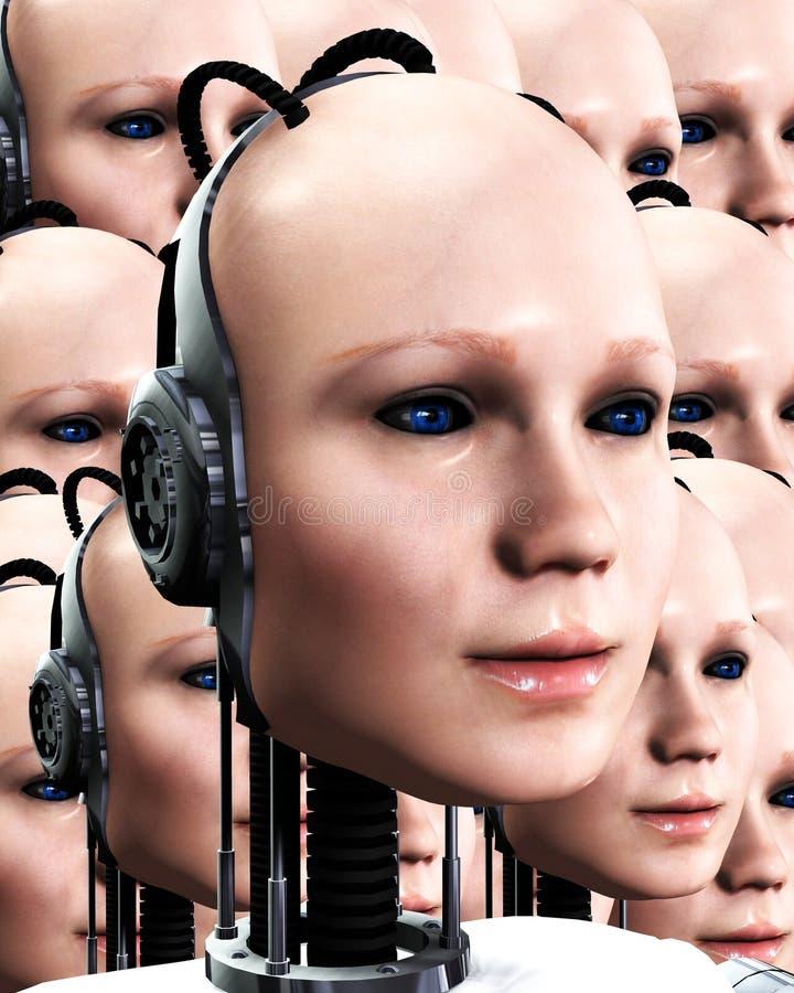 Серии женщин 4 Robo стоковая фотография