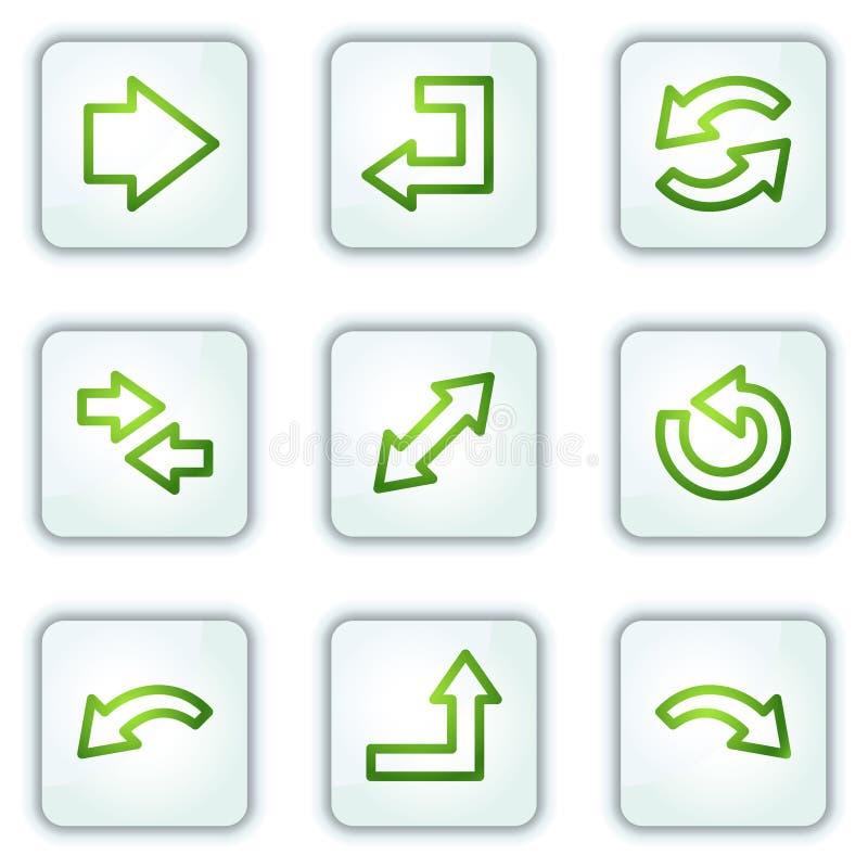 серии икон кнопок стрелок придают квадратную форму белизне сети бесплатная иллюстрация