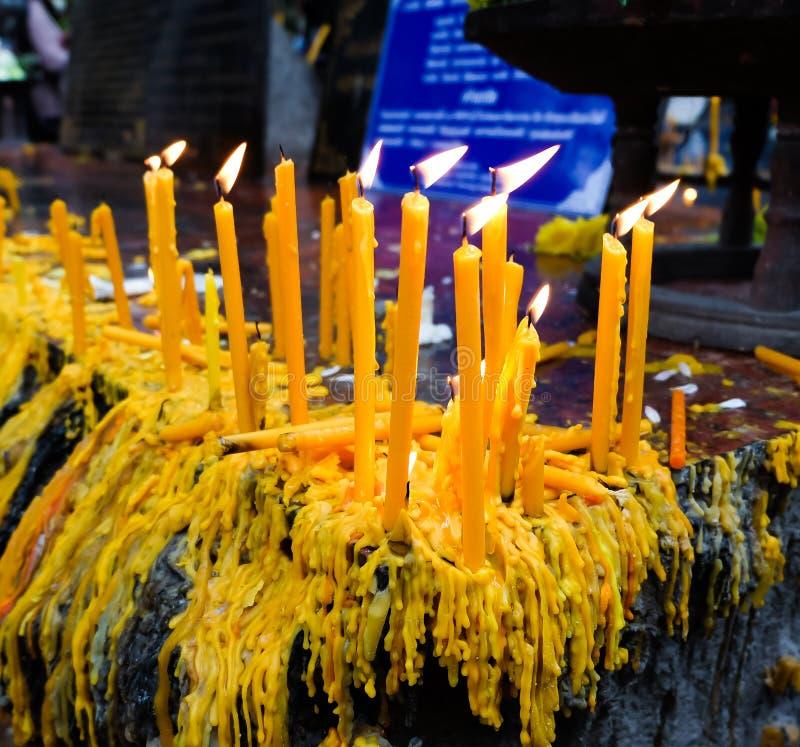 Серии свечей стоковая фотография rf