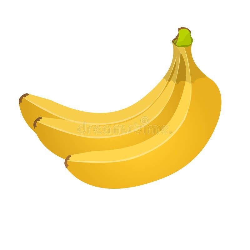 Серия банана изолированная на белой предпосылке fruits тропическо бесплатная иллюстрация