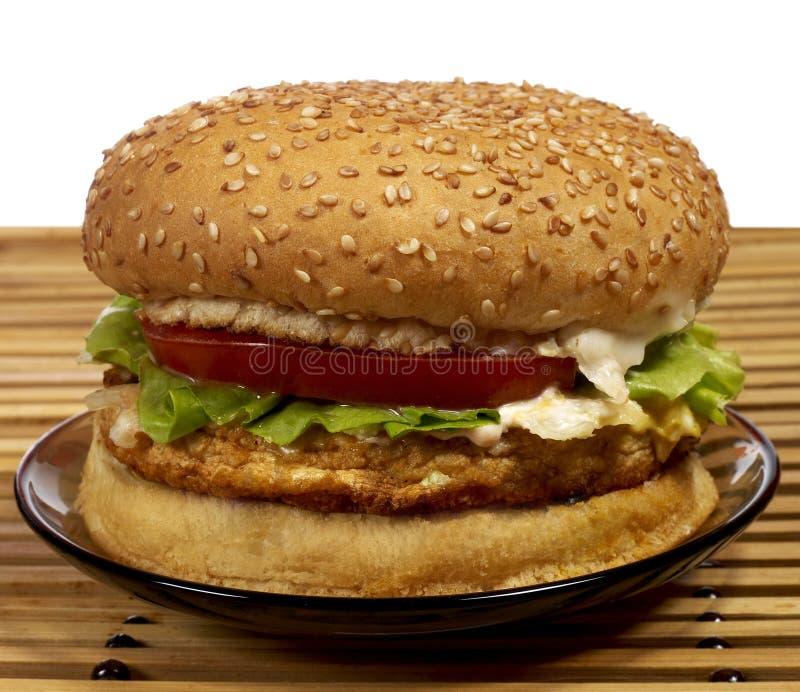 серия бургера стоковое изображение