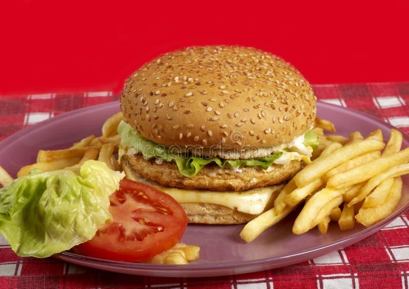 серия бургера стоковое изображение rf