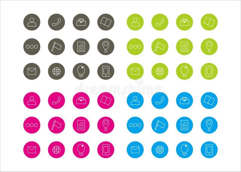 Серия 3 вектора шаблона круга ресурсов значков графическая стоковые изображения rf