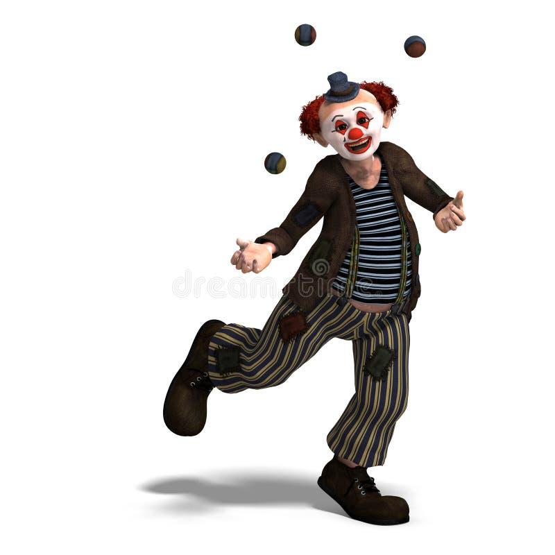 серия взволнованностей клоуна цирка смешная бесплатная иллюстрация
