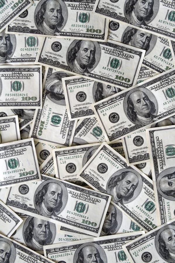 серия доллара 100 счетов стоковая фотография rf