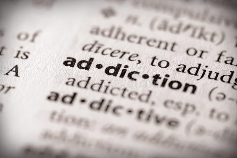 серия здоровья словаря наркомании стоковая фотография rf