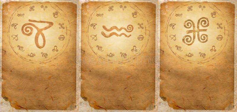 Серия зодиака стоковые изображения rf