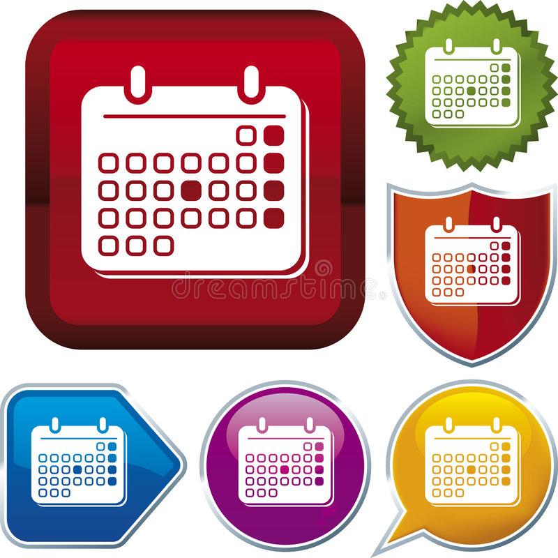 серия иконы календара бесплатная иллюстрация